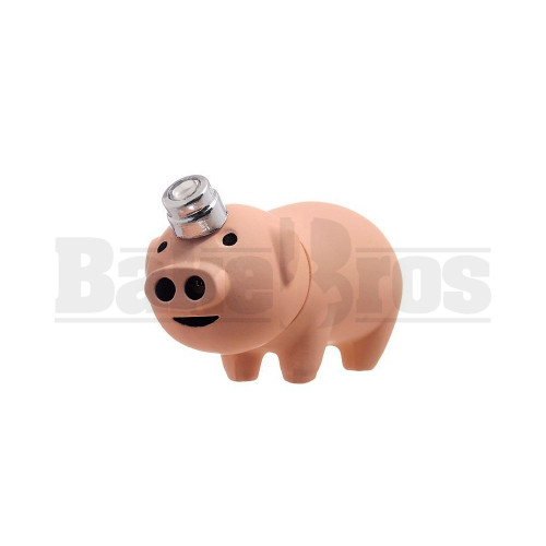 "PIG TWIN FLAME HANDHELD POCKET LIGHTER 3"" ASSORTED COLORS Pack of 1"