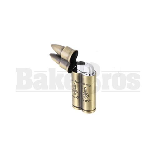 """HUNTER LIGHTER BULLET TWIN FLAME POCKET TORCH 3.5"""" BULLET Pack of 1"""