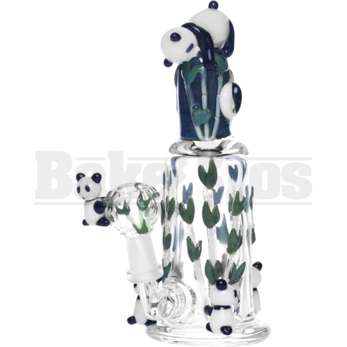 "EMPIRE WP PANDA SUPER MINI OIL RIG YIN YANG BAMBOO 6"" CLEAR MALE 10MM"