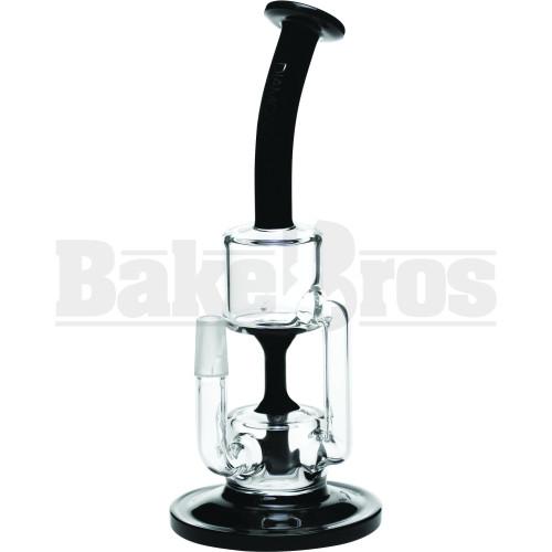 "DIAMOND GLASS WP FIXED TUBE PERC RECYCLER 9"" BLACK MALE 14MM"