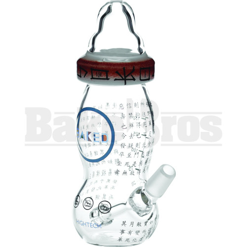 """HIGH TECH WP FIXED DOWNSTEM PERC BABY BOTTLE SOKOL COLLAB 7"""" CLEAR MALE 14MM"""