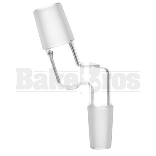 MALE TO MALE ESSENTIAL ADAPTER OFFSET 135* CLEAR MALE 18MM 14MM MALE