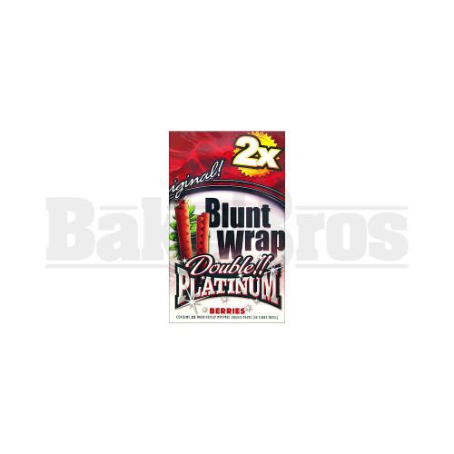 DOUBLE!! PLATINUM CIGAR WRAPS 2 PER PACK BERRIES Pack of 25