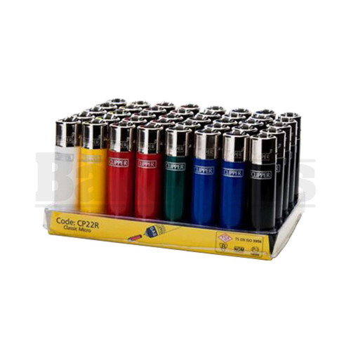 """CLIPPER LIGHTER 3"""" SOLID COLOR ASSORTED COLORS Pack of 48"""