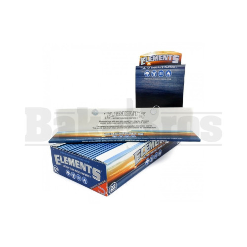 "ELEMENTS ROLLING PAPERS EXTRA LONG RICE PAPER 12"" 24 PER PACK UNFLAVORED Pack of 22"