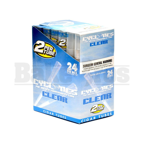 CYCLONES PRE ROLLED CONES CLEAR UNFLAVORED Pack of 24