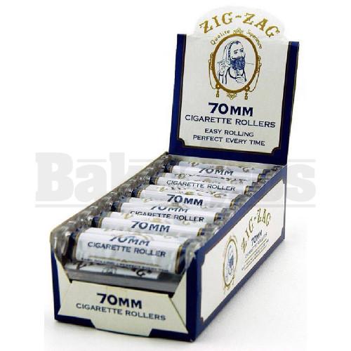 ZIG ZAG CIGARETTE ROLLERS WHITE Pack of 12 70MM