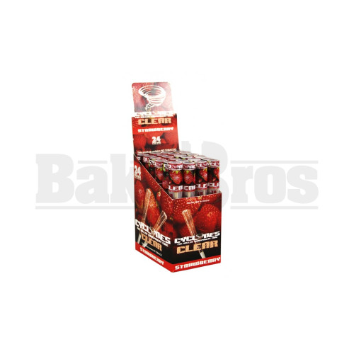 CYCLONES PRE ROLLED CONES CLEAR STRAWBERRY Pack of 24
