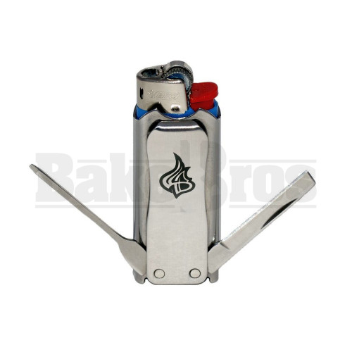 LIGHTERBRO CLIP CLIP POCKET CLIP SILVER Pack of 1