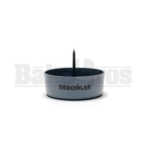"DEBOWLER ASHTRAY BOWL POKER 4"" GRAY"