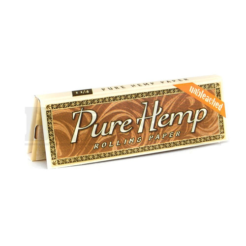 PURE HEMP ROLLING PAPERS UNBLEACHED 1 1/4 50 LEAVES UNFLAVORED Pack of 1