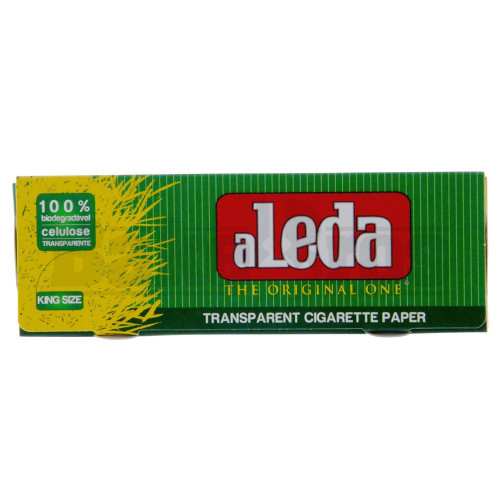 ALEDA ROLLING PAPERS TRANSPARENT KING SIZE 40 LEAVES UNFLAVORED Pack of 1