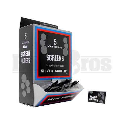 """5 PIPE SCREENS IN EACH WALLET PACK 0.800"""" STEEL Pack of 1"""