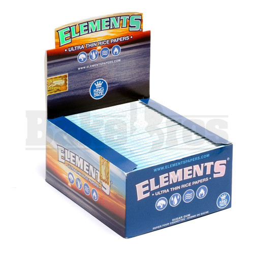 ELEMENTS ROLLING PAPERS KING SIZE SLIM 32 LEAVES UNFLAVORED Pack of 50