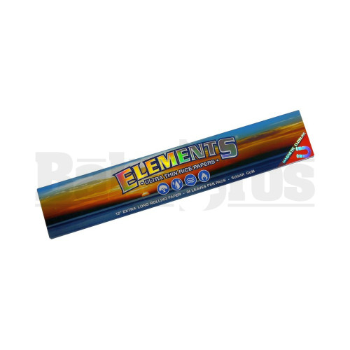 """ELEMENTS ROLLING PAPERS EXTRA LONG RICE PAPER 12"""" 24 PER PACK UNFLAVORED Pack of 1"""