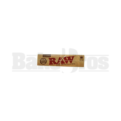 RAW ROLLING PAPERS CLASSIC SLIM KING SIZE 32 LEAVES PER PACK UNFLAVORED Pack of 1