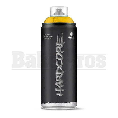 MONTANA COLORS HARDCORE SPRAY CAN PAINT 400ML GANGES YELLOW Pack of 1