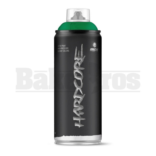 MONTANA COLORS HARDCORE SPRAY CAN PAINT 400ML LUTECIA GREEN Pack of 1