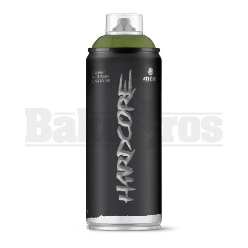 MONTANA COLORS HARDCORE SPRAY CAN PAINT 400ML OLIVE GREEN Pack of 1