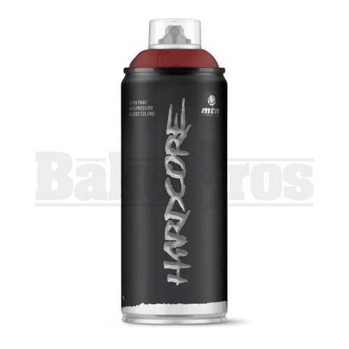 MONTANA COLORS HARDCORE SPRAY CAN PAINT 400ML IROKO RED Pack of 1