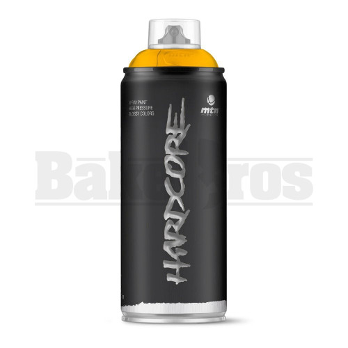 MONTANA COLORS HARDCORE SPRAY CAN PAINT 400ML LUXOR YELLOW Pack of 1