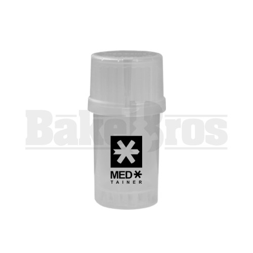 """MEDTAINER CONTAINER GRINDER 3 PIECE 3.5"""" TRANSLUCENT CLEAR Pack of 1"""