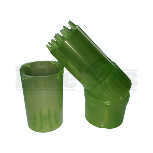 """MEDTAINER CONTAINER GRINDER 3 PIECE 3.5"""" TRANSLUCENT GREEN Pack of 1"""