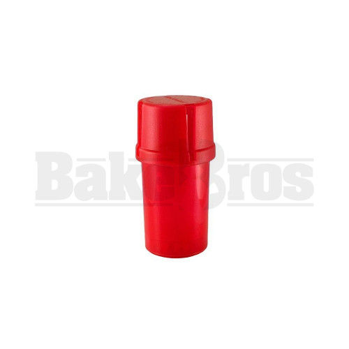 "MEDTAINER CONTAINER GRINDER 3 PIECE 3.5"" SOLID RED Pack of 1"