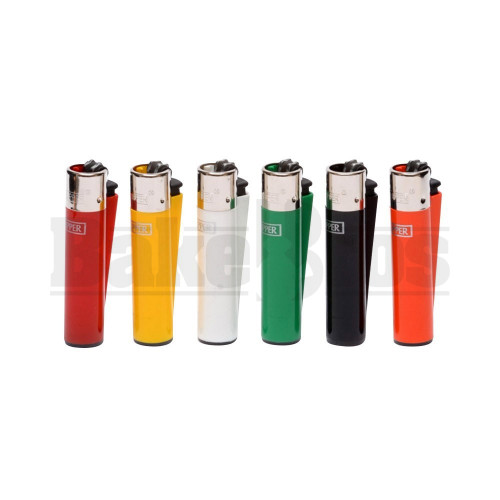 """CLIPPER LIGHTER 3"""" SOLID COLOR ASSORTED COLORS Pack of 6"""