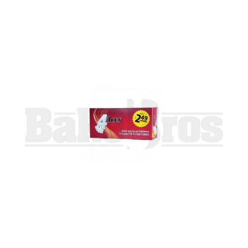 4 ACES CIGARETTE FILTER TUBES 200 PER PACK RED Pack of 1 100MM