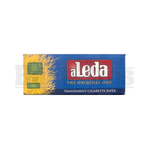 ALEDA THE ORIGINAL ONE TRANSPARENT PAPERS EXTRA SLIM BLUE SIZE UNFLAVORED Pack of 6