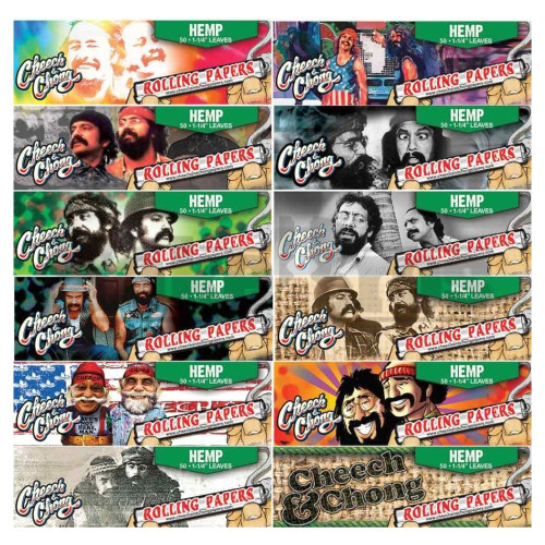 CHEECH & CHONG ROLLING PAPERS HEMP 1 1/4 UNFLAVORED Pack of 6