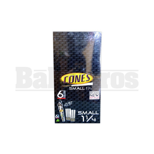 CONES ROLLING PAPERS SMALL 1 1/4 UNFLAVORED Pack of 6