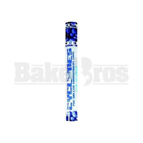 CYCLONES PRE ROLLED CONES CLEAR BLUEBERRY Pack of 6