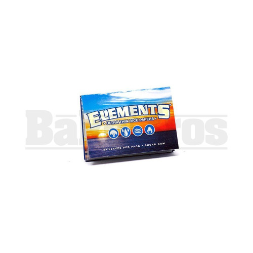 ELEMENTS ROLLING PAPERS 1 1/2 33 LEAVES UNFLAVORED Pack of 6
