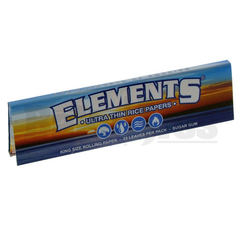 ELEMENTS ROLLING PAPERS KING SIZE 33 LEAVES UNFLAVORED Pack of 1