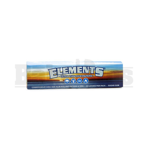 ELEMENTS ROLLING PAPERS CONNOISSEUR KING SIZE 33 LEAVES UNFLAVORED Pack of 6