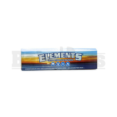 ELEMENTS ROLLING PAPERS CONNOISSEUR KING SIZE 33 LEAVES UNFLAVORED Pack of 1