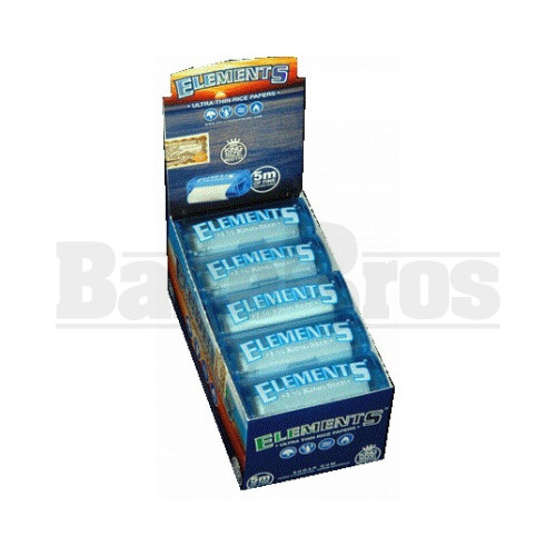 ELEMENTS ROLLING PAPERS KING SIZE SLIM 32 LEAVES UNFLAVORED Pack of 6