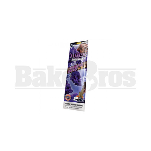 JUICY JAY'S DOUBLE 2 WRAPS GRAPE Pack of 9