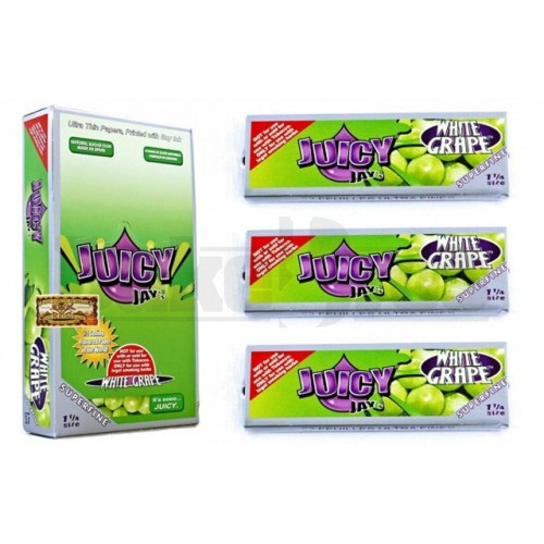 JUICY JAY'S FLAVORED PAPERS 1 1/4 32 LEAVES SUPERFINE WHITE GRAPE Pack of 1