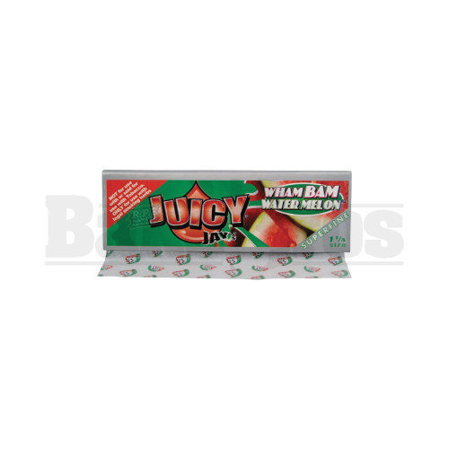 JUICY JAY'S FLAVORED PAPERS 1 1/4 32 LEAVES SUPERFINE WHAM BAM WATERMELON Pack of 1