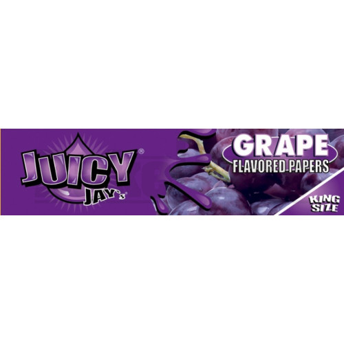 JUICY JAY'S FLAVORED PAPERS 32 LEAVES KINGSIZE GRAPE Pack of 6
