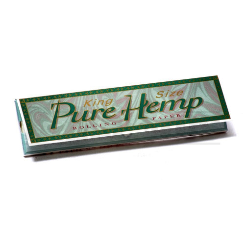 PURE HEMP ROLLING PAPERS KING SIZE 33 LEAVES UNFLAVORED Pack of 12