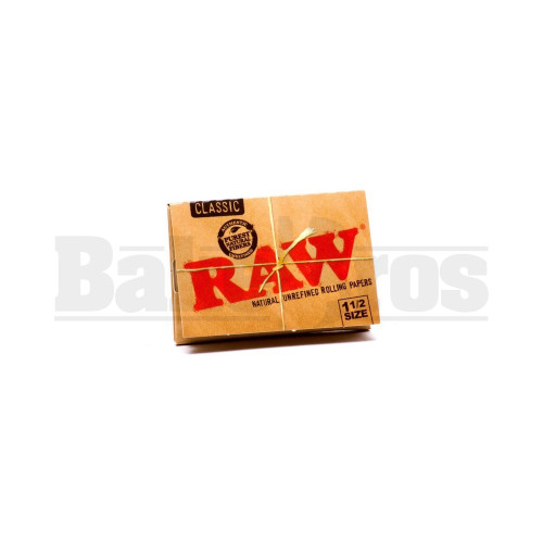RAW CLASSIC ROLLING PAPERS 1 1/2 SIZE 33 LEAVES UNFLAVORED Pack of 1