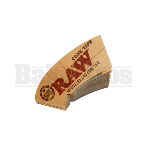 RAW NATURAL ROLLING CONE TIPS PERFECTO 32 TIPS UNFLAVORED Pack of 6