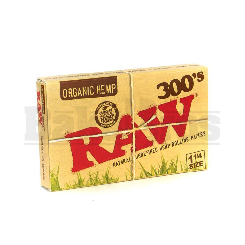 RAW ORGANIC ROLLING PAPERS 1 1/4 300'S 300 LEAVES UNFLAVORED Pack of 1