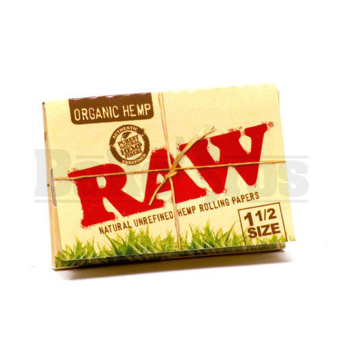RAW ROLLING PAPERS ORGANIC HEMP 1 1/2 SIZE 33 LEAVES UNFLAVORED Pack of 1