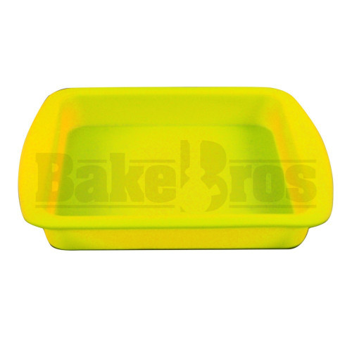 """FOGG'D UP SILICONE TRAY NON STOCK OIL SLICK 8"""" X 8"""" X 1"""" YELLOW Pack of 1 8"""" X 8"""" X 1"""""""
