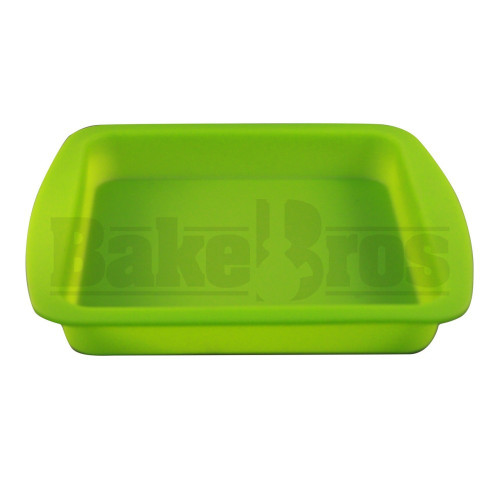 "FOGG'D UP SILICONE TRAY NON STOCK OIL SLICK 8"" X 8"" X 1"" GREEN Pack of 1 8"" X 8"" X 1"""